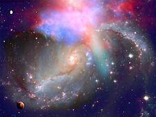 SPIRAL GALAXY DEEP SPACE STARS NEBULA ART PRINT POSTER PICTURE BMP2153A