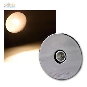 3W-LED-Einbaustrahler-warmweiss-rund-Chrom-Einbauleuchte-Moebel-Spot-700mA-CC