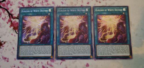 3X Eldlixir of White Destiny SESL-EN030 Secret Rare 1st NM playset