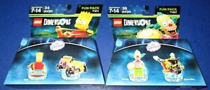Lego Dimensions The Simpsons Krusty FP# 71227 + Bart FP# 71211 *New-Free Ship!