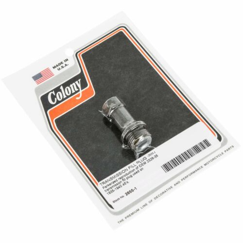 Colony #2655-1 Transmission Fill Plug Parkerized Harley OEM 2326-35 Harley 45s 1
