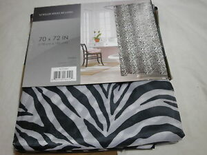 Image Is Loading New ZAMBIA Black Amp White Zebra Print Shower