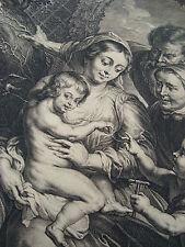 Rubens Holly Family Deliciae Meae Esse Cum Filiis Hominum ca1650  Engraving