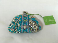 Vera Bradley Double Kiss Lock Coin Purse In Totally Turq