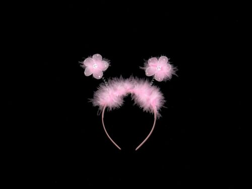 FLOWER DEELEY HEAD BOPPERS FANCY DRESS HEADBAND HEN PARTY BIRTHDAY WHITE PINK