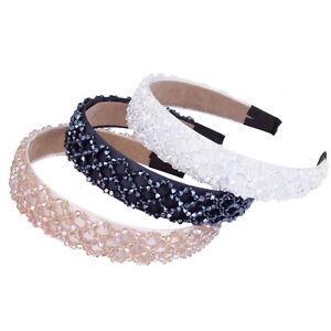 Fashion-Crystal-Beaded-Headband-Hairband-Headpiece-Alice-Band-Hair-Accessory