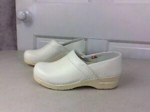 SANITA-Leather-Clogs-Shoes-Women-s-39