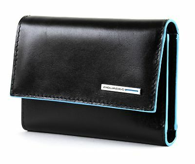 Inventivo Piquadro Blue Square Wallet With Flap Nero Aspetto Bello