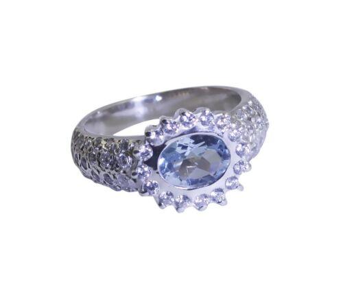 Magnet blauer Topas 925 Sterling Silber Ring blau Exporteur l-1.5 de