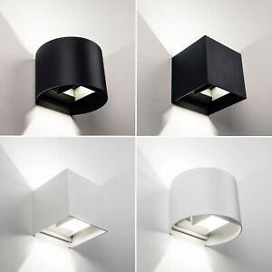 LED-Wandleuchte-IP54-Aussen-Innen-UP-Down-Wandspot-Fassadenlampe-Strahler-Spot