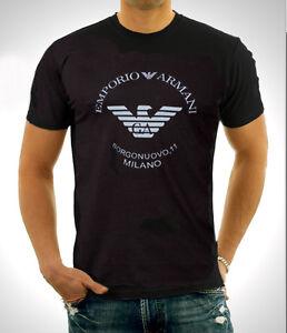 Black-Emporio-Armani-body-fit-T-shirt-size-M-L-XL