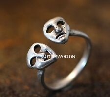 Comedy & Tragedy Ring Adjustable Open funny Ring Jewelry Free Size Gift Idea