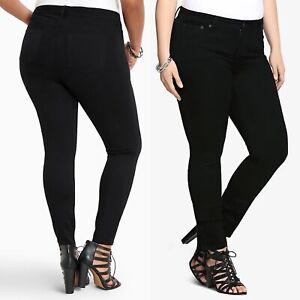 Torrid Skinny Leg High Rise Jeans Short Black Denim Stretch Womens Plus Size 22S