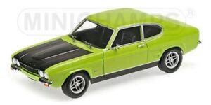 MINICHAMPS-150-089075-089076-FORD-CAPRI-RS2600-model-cars-green-red-1970-1-18