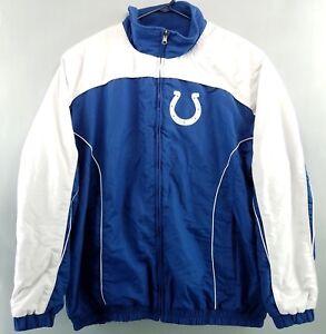 the latest cadd9 b5d6c Details about NFL INDIANAPOLIS COLTS Jacket Men's Fleece Lined Reversible  Blue White Size XXL