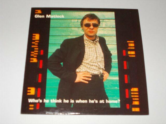 SEX PISTOLS/GLEN MATLOCK - Who's He Think He Is When...UK 1996 Creation promo CD