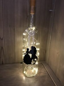 Beauty And The Beast Light gift/ table decoration wedding light up bottle