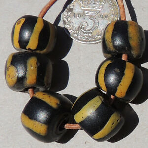 6-old-antique-venetian-cylindrical-striped-fancy-beads-african-trade-1683
