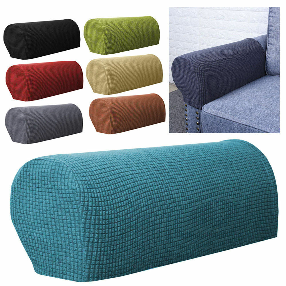 2pcs Removable Furniture Armrest Covers Sofa Couch Chair