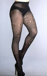 5f7e9f9a0baec Image is loading ANN-SUMMERS-Knit-Opaque-Floral-TIGHTS-Black-Sizes-