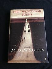 First World War Poems By Andrew Motion