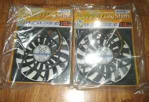 2x-Scythe-Slip-Stream-120mm-Slim-Case-Fan-1600-RPM