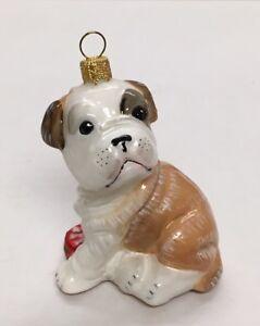 Details About French Bulldog Puppy Glass Ornament Brown White Bull Dog Komozja Poland Adler