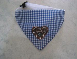 Halsbandlaenge-Trachten-32-42-cm-Hundehalstuch-Halstuch-Hundebekleidung-Tracht
