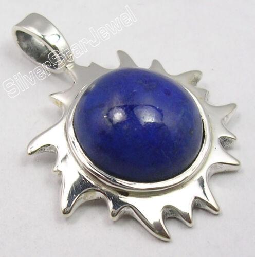 925 Silver LAPIS LAZULI Anniversary Gift Pendant Fashion Jewelry Choose Style