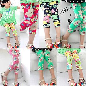 Fashion-Summer-Lovely-Girl-leggings-fleurs-taille-elastique-Legging-Vetements-Pantalon
