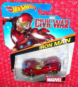 2016 MARVEL Civil War Captain America #31 VISION☆Red;gold☆Hot Wheels Character
