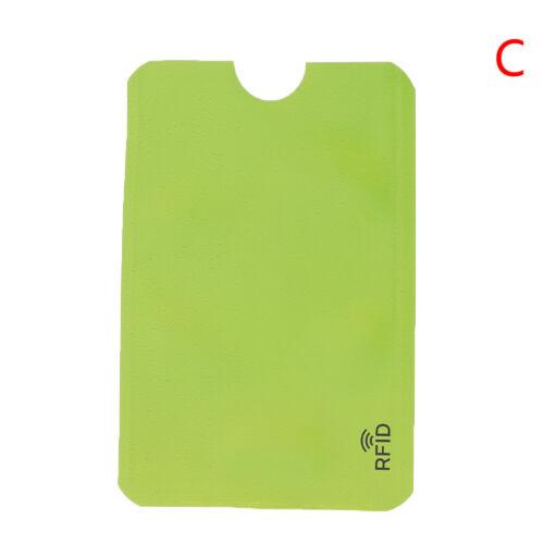 10PCS Credit Card Protector Secure Sleeve RFID Blocking ID Holder Foil Shield+q