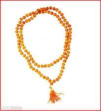Turmeric Haldi Japa Mala 108+1 Beads Yoga Meditation Rosary Mala