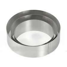 5 6 7 inch Round Circle Shape Stainless Steel Mousse Ring Cake Mold Tool New