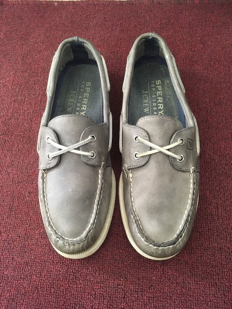 Gray J. Crew Sperry Topsider Leather Men's Shoes