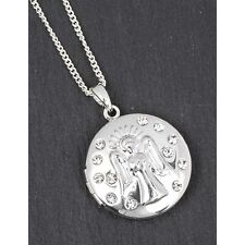 equilibrium silver plated guardian angel locket necklace  jewellery gift present