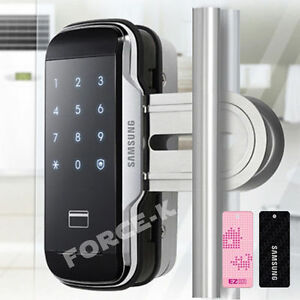 Image is loading SAMSUNG-Glass-Door-SHS-G510-Smart-Digital-Lock- & SAMSUNG Glass Door SHS-G510 Smart Digital Lock Keyless Entry ...