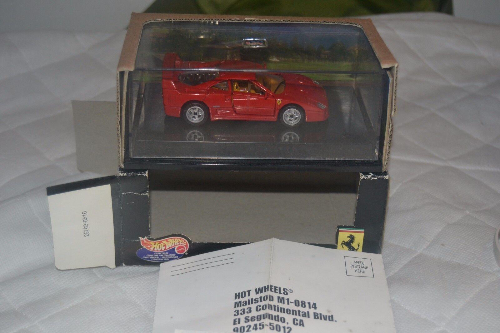 FERRARI f40 COMPETIZIONE red RED 1 43 modello HOT WHEELS