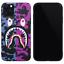 BAPE-Blue-Purple-Camo-Shark-Cover-Case-For-iPhone-11-Pro-Max-XS-XR-8-7-Plus-SE miniature 1