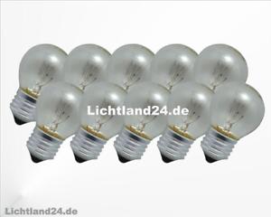 Glühbirne E27-5 x Stoßfeste 15 Watt Tropfen Lampe klar Glühlampen 15W