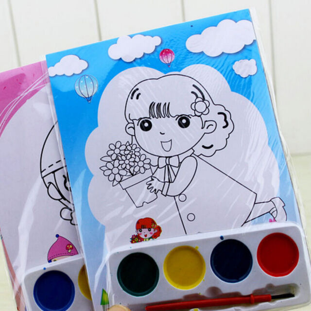 DIY Watercolor Painting Set 4 Colors Children Drawing  Kids Educational Toy .AU