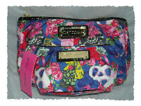 Betsey Johnson 2pc Crescent Betsey's Masquerade Skull Mask Bag Clutch Makeup