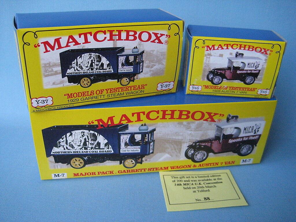Matchbox Yesteryear MICA M-7 Gift Set Austin 7 Van Garrett Steam Wagon Boxed