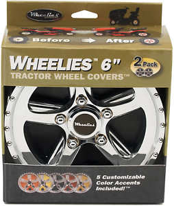 Good Vibrations 186 2 Count Tractor Wheel Covers 6-Inch
