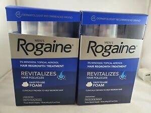 2-box-Men-039-s-Rogaine-5-Minoxidil-Hair-Regrowth-Treatment-Foam-6-Months-Supply