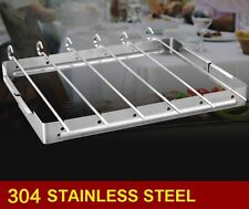 Heavy Duty Stainless Steel Barbecue Meat Grill Rack Shish Kabob 6 Pieces Skewers