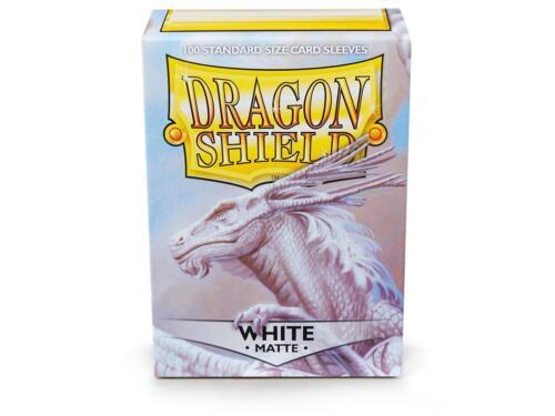 Dragon Shield Standard Size Card matte Sleeves White Magic Pokemon 100ct box