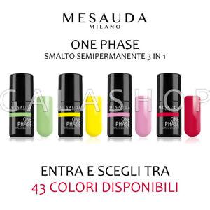mesauda one phase smalto semipermanente gel uv 3 in 1 unghie nails