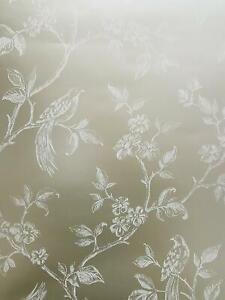 Details About Fine Decor Beatrice Floral Birds Wallpaper Gold Metallic Shimmer Flowers Trees