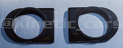 Corsa C Heater vent 52mm Gloss black gauge pod panel adapter.Twin pack